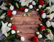 Υπόβαθρο λουλουδιών στη φλόγα λουλουδιών Στοκ Εικόνα