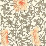 Υπόβαθρο λουλουδιών στο κινεζικό ύφος Στοκ Εικόνα