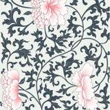 Υπόβαθρο λουλουδιών στο κινεζικό ύφος Στοκ Εικόνες
