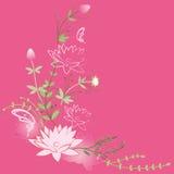 Υπόβαθρο λουλουδιών Lotus Στοκ Φωτογραφία