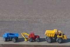 Υπόβαθρο οχημάτων κατασκευής παιχνιδιών Στοκ φωτογραφία με δικαίωμα ελεύθερης χρήσης