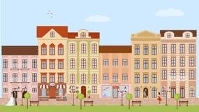 Υπόβαθρο οδών πόλεων διανυσματική απεικόνιση