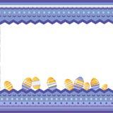 Υπόβαθρο Πάσχας με το ετερόκλητα διακοσμητικά πλαίσιο και τα αυγά διανυσματική απεικόνιση