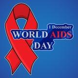 Υπόβαθρο Παγκόσμιας Ημέρας κατά του AIDS με την κόκκινη κορδέλλα της συνειδητοποίησης ενισχύσεων Στοκ εικόνες με δικαίωμα ελεύθερης χρήσης
