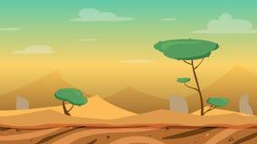 Υπόβαθρο παιχνιδιών ερήμων κινούμενων σχεδίων Στοκ φωτογραφία με δικαίωμα ελεύθερης χρήσης