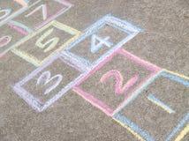 Υπόβαθρο παιχνιδιών Hopscotch στοκ εικόνα