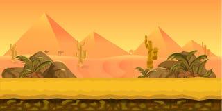 Υπόβαθρο παιχνιδιών ερήμων Στοκ Εικόνα