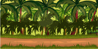 Υπόβαθρο παιχνιδιών ζουγκλών για τη 2$α εφαρμογή Στοκ Εικόνες