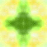 Υπόβαθρο παραθύρων λεκές-γυαλιού Κίτρινος και πράσινος Στοκ εικόνα με δικαίωμα ελεύθερης χρήσης