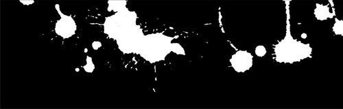 Υπόβαθρο παφλασμών, κτυπημάτων και λεκέδων μελανιού χρώμα splatter Άσπροι λεκέδες στο Μαύρο αφηρημένη διανυσματική απεικόνιση Πρό Στοκ εικόνες με δικαίωμα ελεύθερης χρήσης