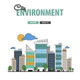 Υπόβαθρο περιβάλλοντος πόλεων Στοκ Εικόνες