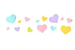 Υπόβαθρο περικοπών εγγράφου μορφής καρδιών κρητιδογραφιών Στοκ εικόνα με δικαίωμα ελεύθερης χρήσης