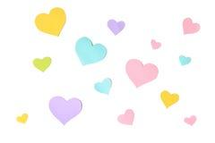 Υπόβαθρο περικοπών εγγράφου μορφής καρδιών κρητιδογραφιών Στοκ φωτογραφίες με δικαίωμα ελεύθερης χρήσης