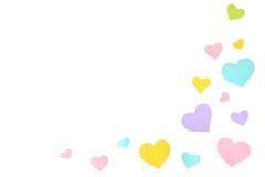 Υπόβαθρο περικοπών εγγράφου μορφής καρδιών κρητιδογραφιών Στοκ εικόνες με δικαίωμα ελεύθερης χρήσης
