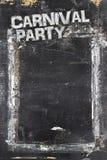 Υπόβαθρο πινάκων κιμωλίας κόμματος καρναβαλιού Στοκ εικόνα με δικαίωμα ελεύθερης χρήσης