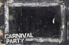Υπόβαθρο πινάκων κιμωλίας κόμματος καρναβαλιού Στοκ εικόνες με δικαίωμα ελεύθερης χρήσης