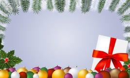 Υπόβαθρο πλαισίων διακοσμήσεων Χριστουγέννων Στοκ Εικόνες