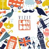 Υπόβαθρο πλαισίων του Λονδίνου διανυσματική απεικόνιση