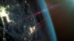 Υπόβαθρο πλανήτη Γη διανυσματική απεικόνιση