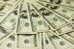 Υπόβαθρο πολλών τραπεζογραμματίων των μετρητών χρημάτων στοκ φωτογραφία