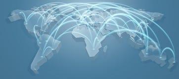 Υπόβαθρο πορειών πτήσης παγκόσμιων χαρτών απεικόνιση αποθεμάτων