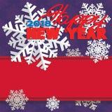 Υπόβαθρο που αποτελείται από χειμερινά snowflakes Στοκ Εικόνες