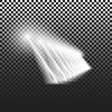 Υπόβαθρο που φωτίζεται διαφανές από τους προβολείς Διανυσματικά επίκεντρα σκηνή μεγάλη ελαφριά απόδοση συμβαλλόμενων μερών αποτελ Στοκ Εικόνες