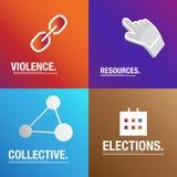 Υπόβαθρο πολιτικής για τη δωροδοκία, τους νόμους και τις ψηφοφορίες για τις εκλογές Στοκ Εικόνες