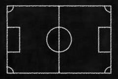 Υπόβαθρο ποδοσφαίρου πινάκων κιμωλίας Στοκ Εικόνα