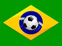 Υπόβαθρο ποδοσφαίρου της Βραζιλίας Στοκ Φωτογραφίες