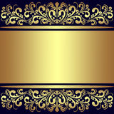 Υπόβαθρο πολυτέλειας με τα χρυσά βασιλικά σύνορα. απεικόνιση αποθεμάτων