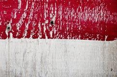 Υπόβαθρο πολυτέλειας της shabby χρωματισμένης ξύλινης σανίδας κόκκινο λευκό Στοκ Φωτογραφίες