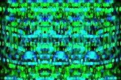 Υπόβαθρο πράσινου φωτός Defocused bokeh Στοκ Εικόνες