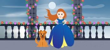 Υπόβαθρο πριγκηπισσών της Disney απεικόνιση αποθεμάτων
