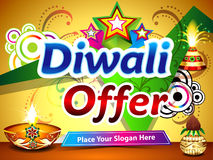 Υπόβαθρο προσφοράς Diwali Στοκ Εικόνα