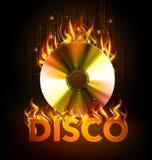 Υπόβαθρο πυρκαγιάς Disco Disck Στοκ Εικόνες