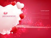 Υπόβαθρο πώλησης ημέρας βαλεντίνων με το σχέδιο καρδιών μπαλονιών ελεύθερη απεικόνιση δικαιώματος