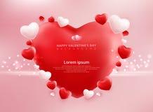 Υπόβαθρο πώλησης ημέρας βαλεντίνων με το σχέδιο καρδιών μπαλονιών Vect απεικόνιση αποθεμάτων