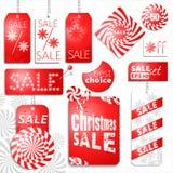 Υπόβαθρο πώλησης Χριστουγέννων Στοκ Φωτογραφία
