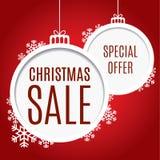 Υπόβαθρο πώλησης Χριστουγέννων Διανυσματική απεικόνιση