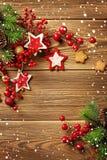 Υπόβαθρο πλαισίων Χριστουγέννων στοκ φωτογραφία