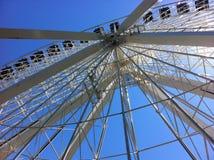 Υπόβαθρο ροδών του Μόντρεαλ Ferris στοκ εικόνες