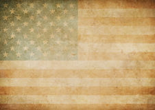 Υπόβαθρο σημαιών αμερικανικού ή αμερικανικού παλαιό εγγράφου Στοκ Εικόνα