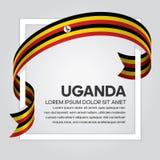 Υπόβαθρο σημαιών της Ουγκάντας Στοκ φωτογραφίες με δικαίωμα ελεύθερης χρήσης