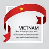 Υπόβαθρο σημαιών του Βιετνάμ Στοκ Φωτογραφία