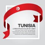 Υπόβαθρο σημαιών Tunusia Στοκ Εικόνες