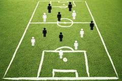 Υπόβαθρο σκίτσων σχεδίων παιχνιδιού στρατηγικής ποδοσφαίρου Στοκ φωτογραφίες με δικαίωμα ελεύθερης χρήσης