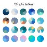 Υπόβαθρο σκιάς χρώματος τόνου θάλασσας, ζωηρόχρωμα πλέγματα κλίσης ελεύθερη απεικόνιση δικαιώματος