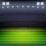 Υπόβαθρο σταδίων ποδοσφαίρου απεικόνιση αποθεμάτων