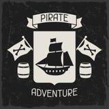 Υπόβαθρο στο θέμα πειρατών με τα αντικείμενα και ελεύθερη απεικόνιση δικαιώματος